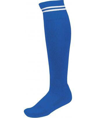 Chaussettes de sport rayées PA015 - Dark royal Blue / White