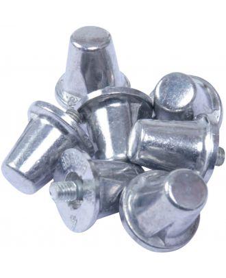 Lot de 100 crampons alu coniques PA066 - Silver