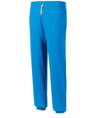 Pantalon enfant de jogging en coton léger PA187 - Light Royal Blue