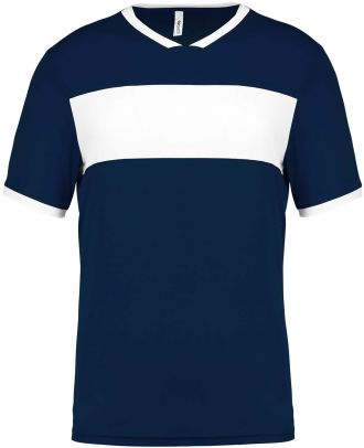 Maillot enfant polyester manches courtes PA4001 - Sporty Navy / White