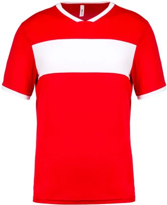 Maillot enfant polyester manches courtes PA4001 - Sporty Red / White