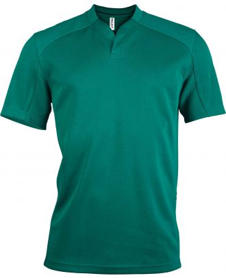 Maillot Rugby enfant bi-matière manches courtes PA428 - Dark Green