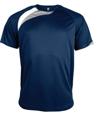 T-shirt unisexe manches courtes sport PA436 - Sporty Navy / White / Storm Grey