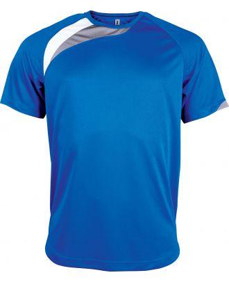 T-shirt sport enfant manches courtes PA437 - Sporty Royal Blue / White / Storm Grey