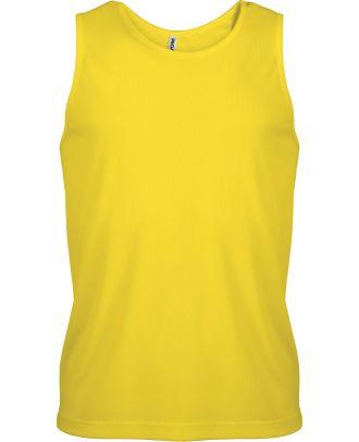 Débardeur homme sport PA441 - True Yellow