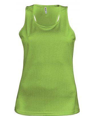 Débardeur femme sport PA442 - Lime