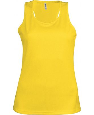 Débardeur femme sport PA442 - True Yellow