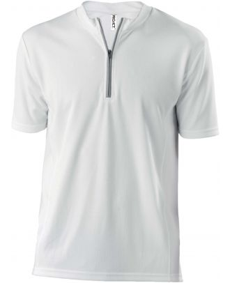 Maillot cycliste homme polyester manches courtes PA468 - White