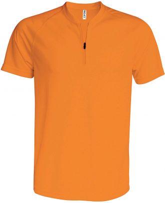 T-shirt 1/4 zip manches courtes unisexe PA486 - Orange