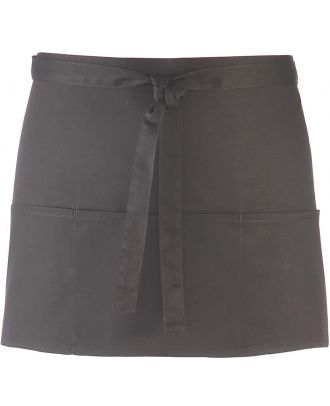 """Tablier taille """"Colours"""" 3 poches PR155 - Dark Grey"""