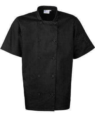 Veste de cuisine manches courtes PR656 - Black
