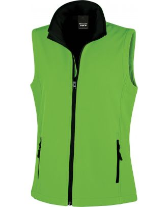 Bodywarmer Softshell Femme Printable R232F - Vivid Green / Black