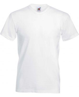 T-shirt homme col V Valueweight SC22V - White
