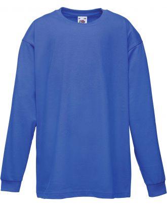 T-shirt enfant manches longues valueweight SC61007 - Royal Blue