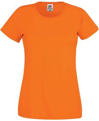T-shirt femme manches courtes Original-T SC61420 - Orange de face