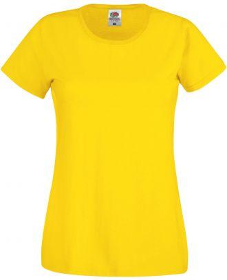 T-shirt femme manches courtes Original-T SC61420 - Yellow de face