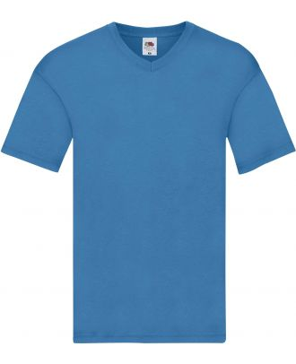 T-shirt homme col V Original-T SC61426 - Azur Blue