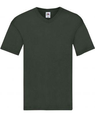 T-shirt homme col V Original-T SC61426 - Bottle Green