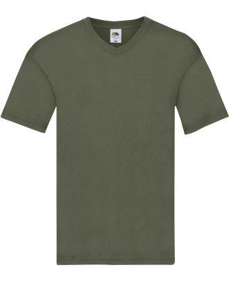 T-shirt homme col V Original-T SC61426 - Classic Olive
