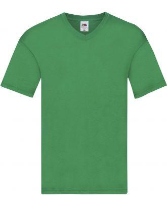 T-shirt homme col V Original-T SC61426 - Kelly Green