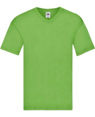 T-shirt homme col V Original-T SC61426 - Lime