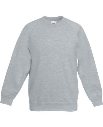 Sweat-shirt enfant manches raglan SC62039 - Heather Grey