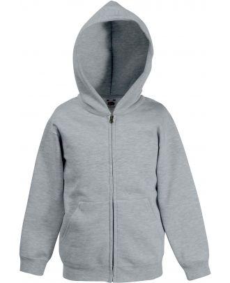 Sweat-shirt enfant zippé à capuche classic SC62045 - Heather Grey