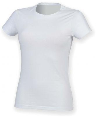 T-shirt femme col rond Feel Good SK121 - White