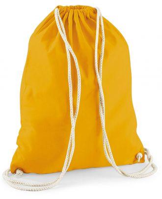 Gymsac en coton W110 - Mustard - 37 x 46 cm de dos