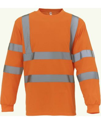 T-shirt haute visibilité manches longues HVJ420 - Hi Vis Orange
