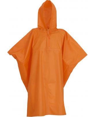 Poncho de pluie léger HVS470 - Orange