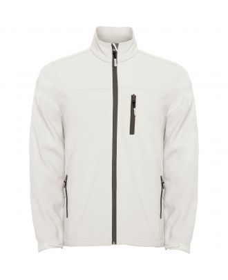 Softshell micropolaire manches longues ANTARTIDA blanc perle