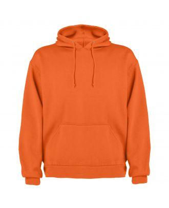 Sweat-shirt capuche avec poche kangourou CAPUCHA orange