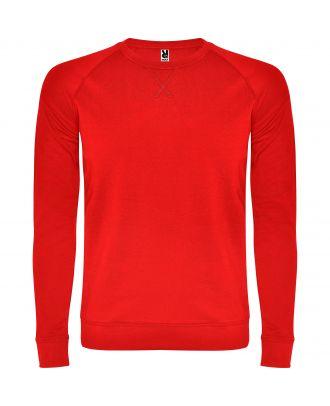 Sweat-shirt homme manches longues raglan ANNAPURNA rouge