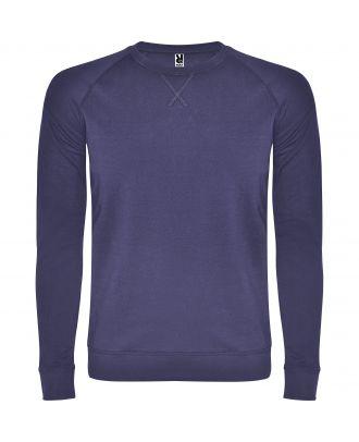 Sweat-shirt homme manches longues raglan ANNAPURNA bleu denim