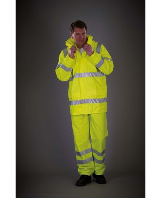Veste de pluie respirante Hi-Vis Soft Flex YHVS450 - Hi Vis Yellow
