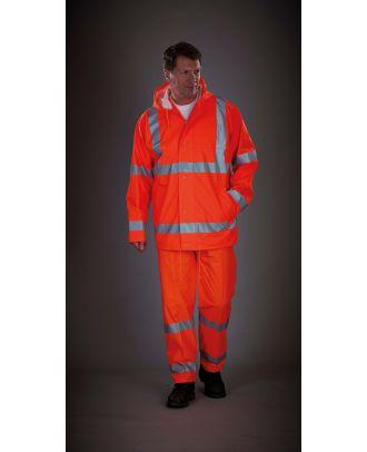 Pantalon de pluie respirant Hi-Vis Soft Flex YHVS451 - Hi Vis Orange